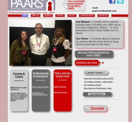 PAARS in Enfield – Parent and Children Site