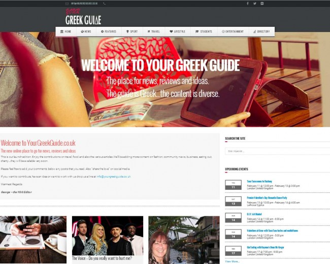Your Greek Guide – Website and Online magazine