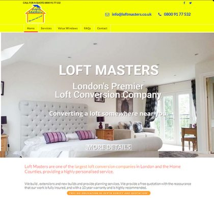 Loftmasters – Redesign